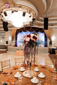 Sikh wedding reception decor