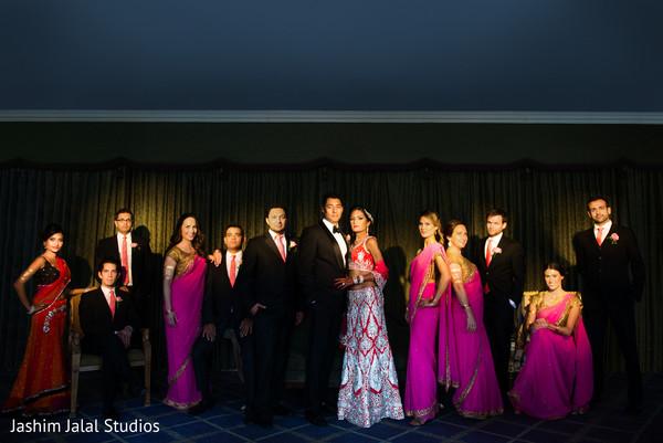 Wedding Party at Indian Wedding Reception