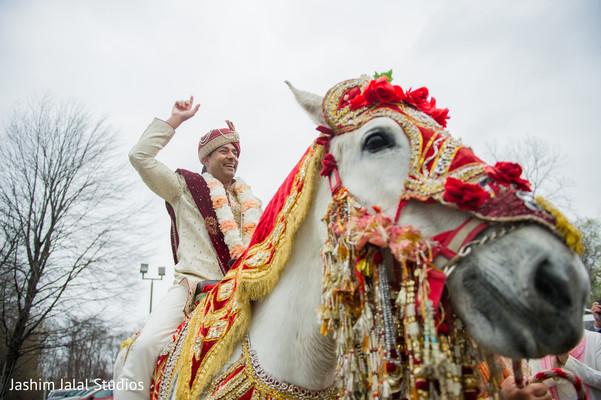 Indian Bridegroom on Horse