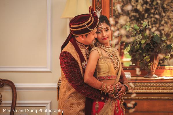 Indian Brid and Groom Wedding Day Portrait