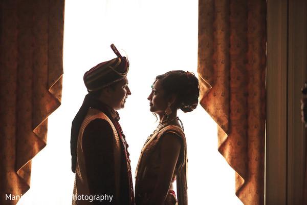 Indian Bride and Groom Wedidn Day Portrait