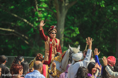 Indian Baraat Ceremony on Horse