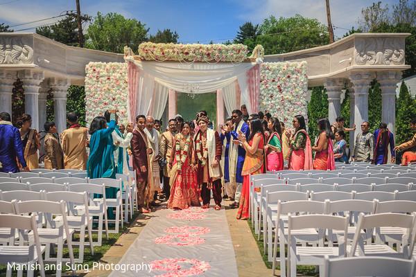 Indian Bride and Groom Wedding Ceremony Portrait