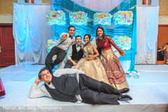 Indian Bride and Groom Wedding Reception Portrait