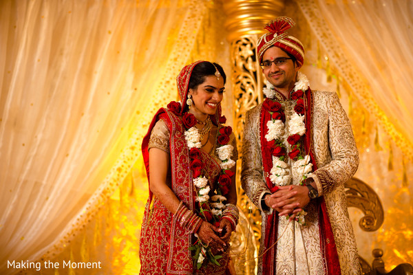 indian wedding details,garlands,indian bride
