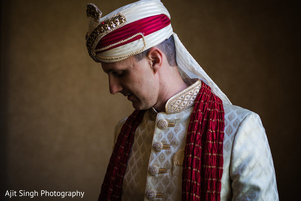 Groom getting ready in Greenwich, CT, Fusion Wedding by Ajit Singh Photography