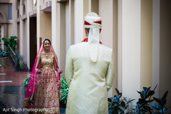 indian wedding first look portraits,indian wedding first look