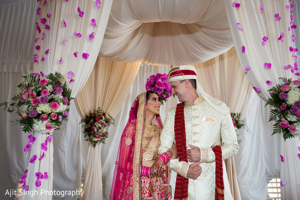 Fusion wedding portrait in Greenwich, CT, Fusion Wedding by Ajit Singh Photography