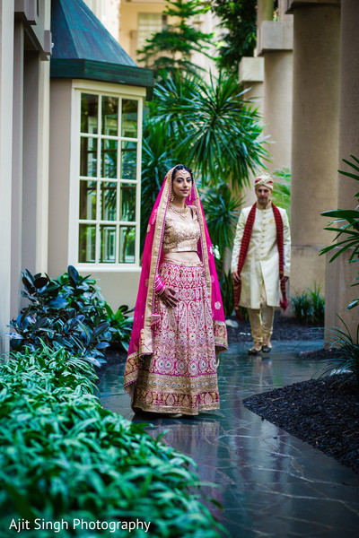 Fusion wedding first look portrait in Greenwich, CT, Fusion Wedding by Ajit Singh Photography