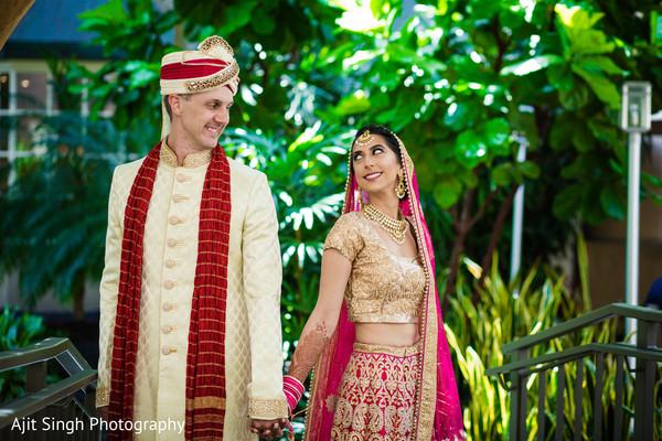 Indian wedding first look portrait