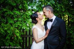 Christian wedding portrait