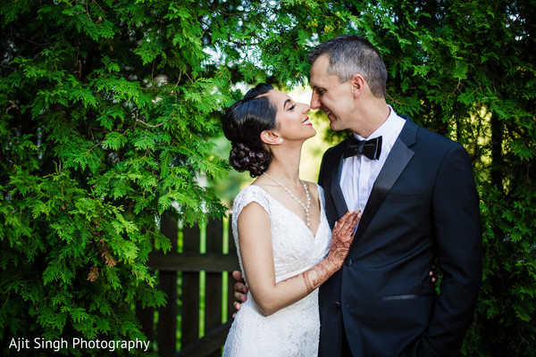 Christian wedding portrait in Greenwich, CT, Fusion Wedding by Ajit Singh Photography