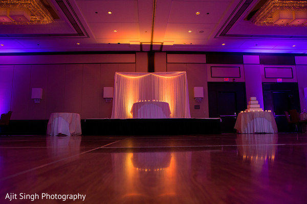 Reception decor in Greenwich, CT, Fusion Wedding by Ajit Singh Photography