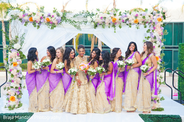 indian bridesmaids,indian bride,indian wedding gallery