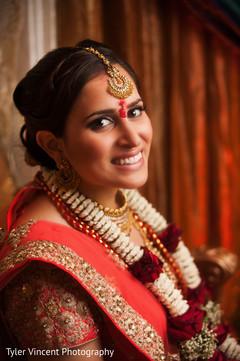 Indian bride portrait.
