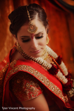 Dreamy indian bride portrait.