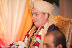 Indian groom at the wedding ceremony.