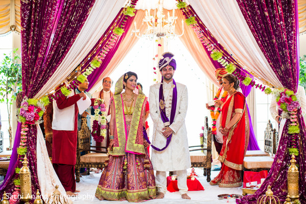 Dreamy and colorful  indian wedding ceremony. in Whippany, New Jersey Indian Wedding by Sachi Anand Photography