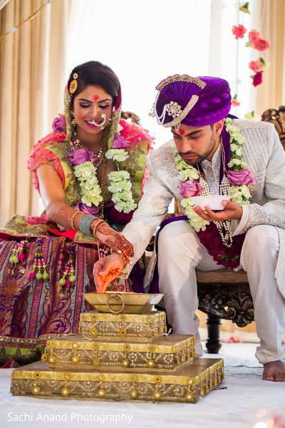 Traditional Indian wedding ceremony ritual. in Whippany, New Jersey Indian Wedding by Sachi Anand Photography