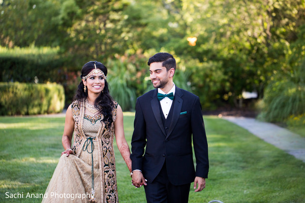 Sweet pre-wedding reception portrait. in Whippany, New Jersey Indian Wedding by Sachi Anand Photography