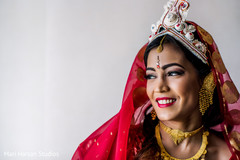 Beautiful indian bride in her bridal jewelry