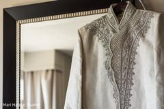 Beautiful white and silver sherwani