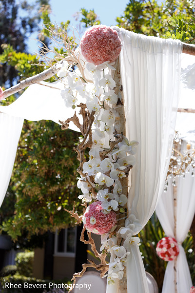 Lovely floral decor at the ceremony