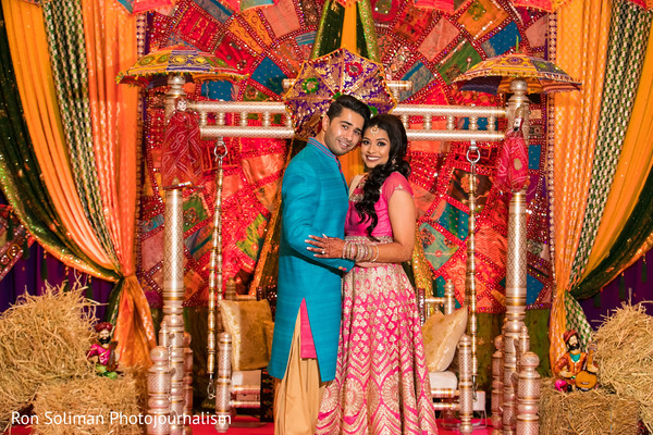 indian pre-wedding celebrations,indian sangeet,indian bride,sangeet decoration