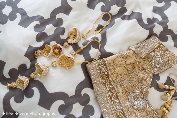 Bridal lengha and jewelry
