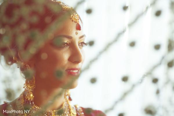 Indian bride dreamy portrait.
