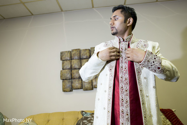 indian groom getting ready,indian groom
