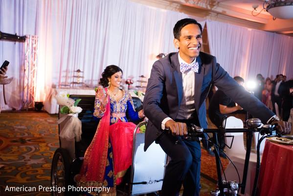 wedding entrance,indian fusion wedding reception