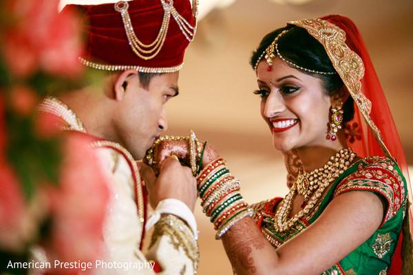 Raja kissing his bride