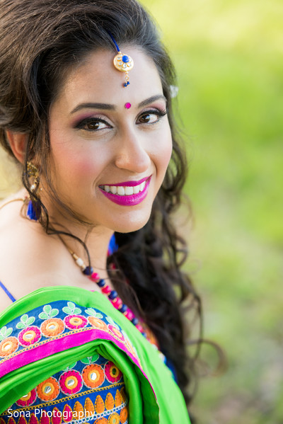 indian bride makeup,indian bride,indian sangeet