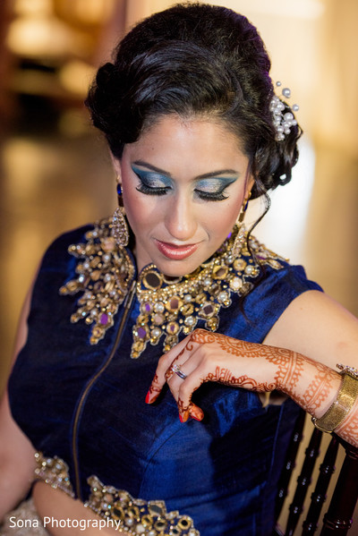 indian bride,indian bridal hair and makeup,indian fusion wedding reception