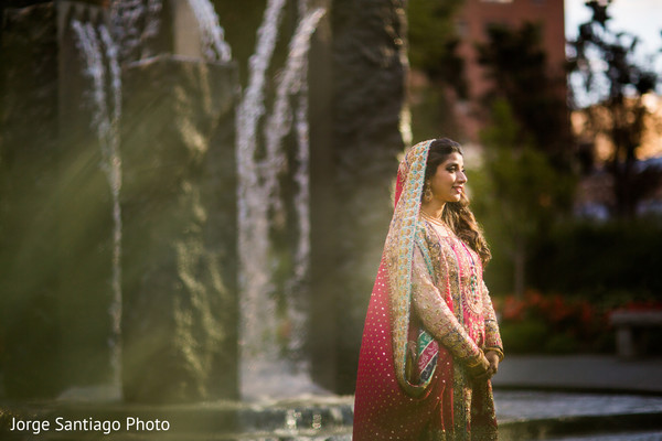 indian bride,indian wedding portrait,indian bridal fashions,bride wearing lengha