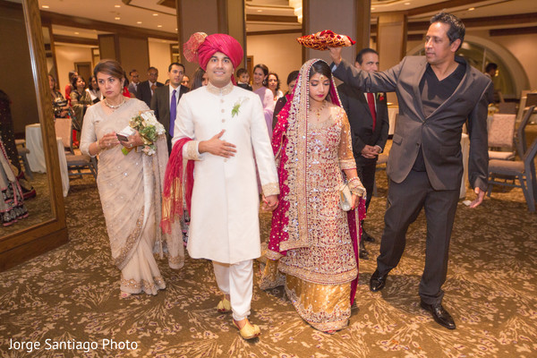 Indian Bride and Groom on Wedding Night