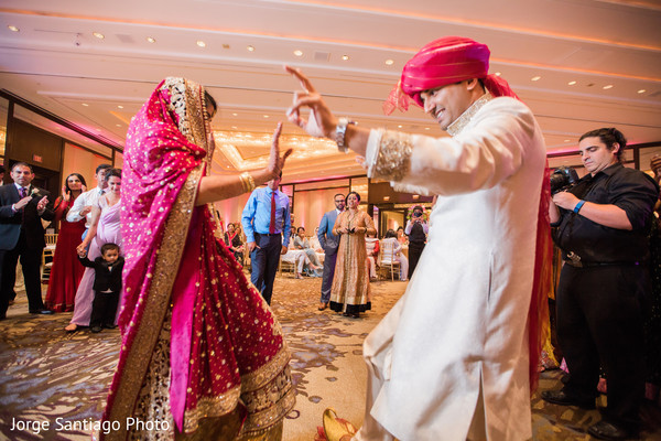 India Couple Dancing At Wedding Reception