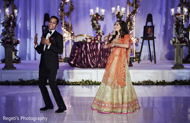 choreography,indian fusion wedding reception