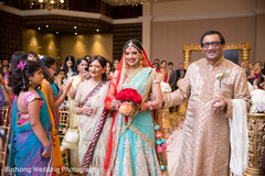 indian wedding ceremony,walking down the aisle