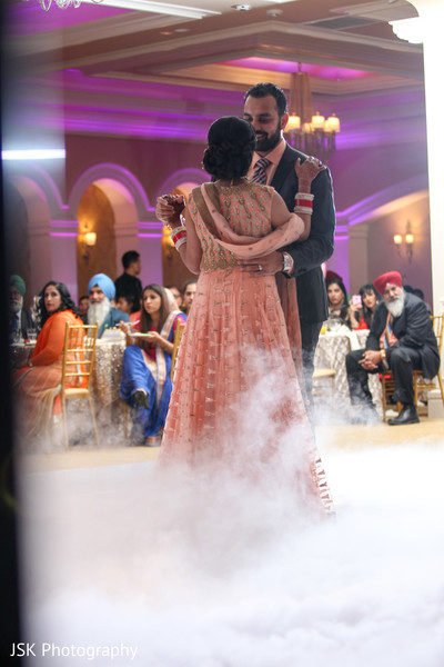 indian bride and groom first dance,indian wedding reception
