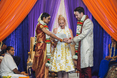 Maharani and groom during wedding ceremony