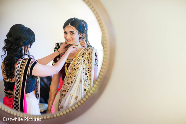 indian bridal fashions,indian bride getting ready