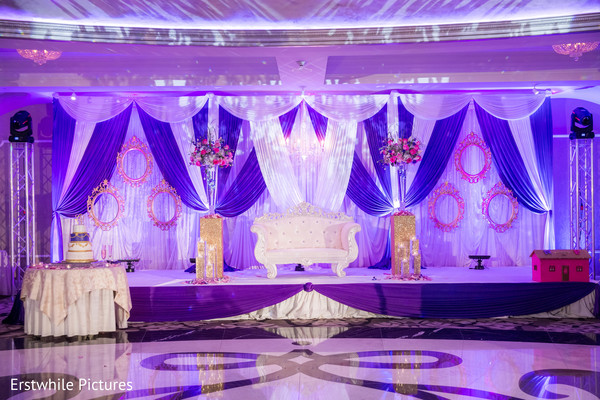 indian wedding reception,lightning,reception stage