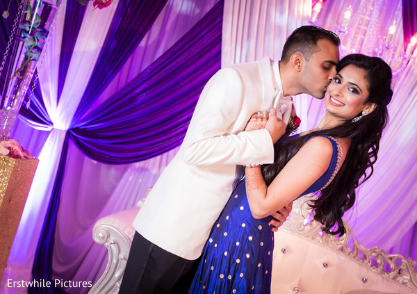 indian bride,indian fusion wedding reception