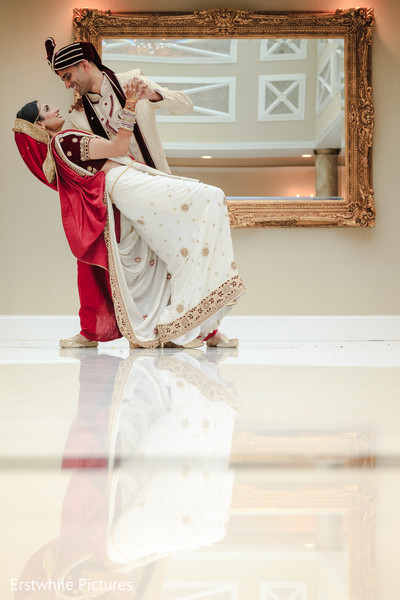 ceremony fashion,indian bride and groom