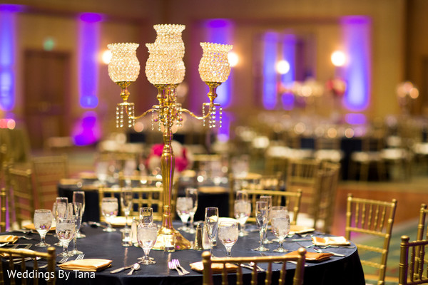 indian wedding reception,table centerpieces
