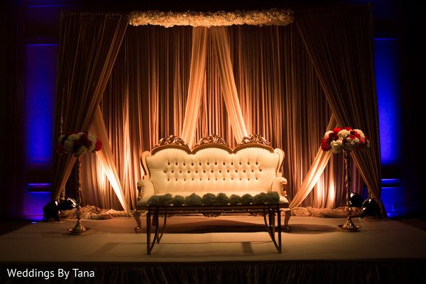 indian wedding ceremony photography,reception stage,indian wedding floral and decor