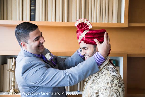 indian groom fashion,red turban