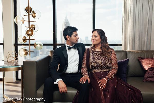 indian bride reception fashion,indian groom reception fashion